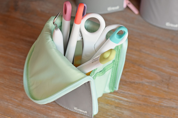 Use the Cricut Accessory Pouch for storing Cricut Tools and Pens AD