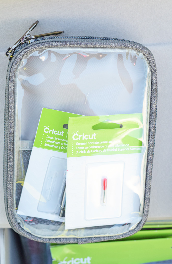 The Cricut Rolling Craft Tote for Cricut supply storage AD