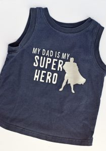 This My Dad Is My Super Hero Iron-on Shirt Design is great for Father's Day AD
