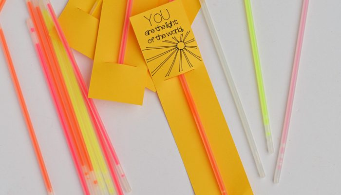 You Are the Light of the World Glow Stick Card