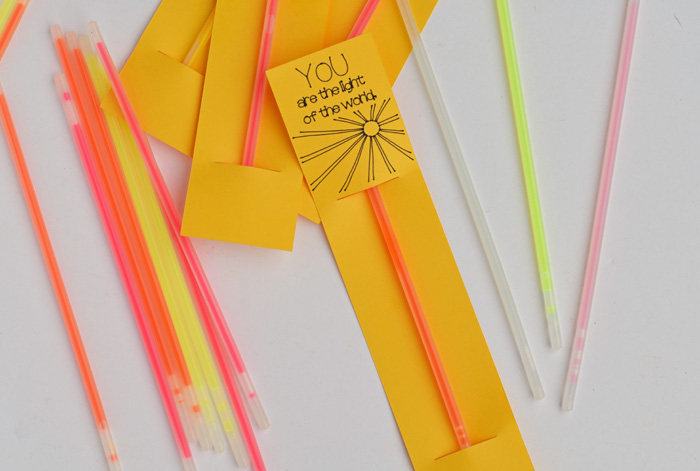 You Are the Light of the World Glow Stick Card AD