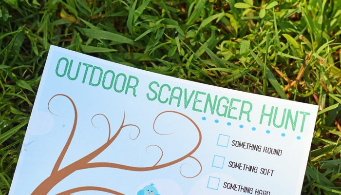 Free Printable Outdoor Scavenger Hunt (Includes Regular and Bible Verse version!)