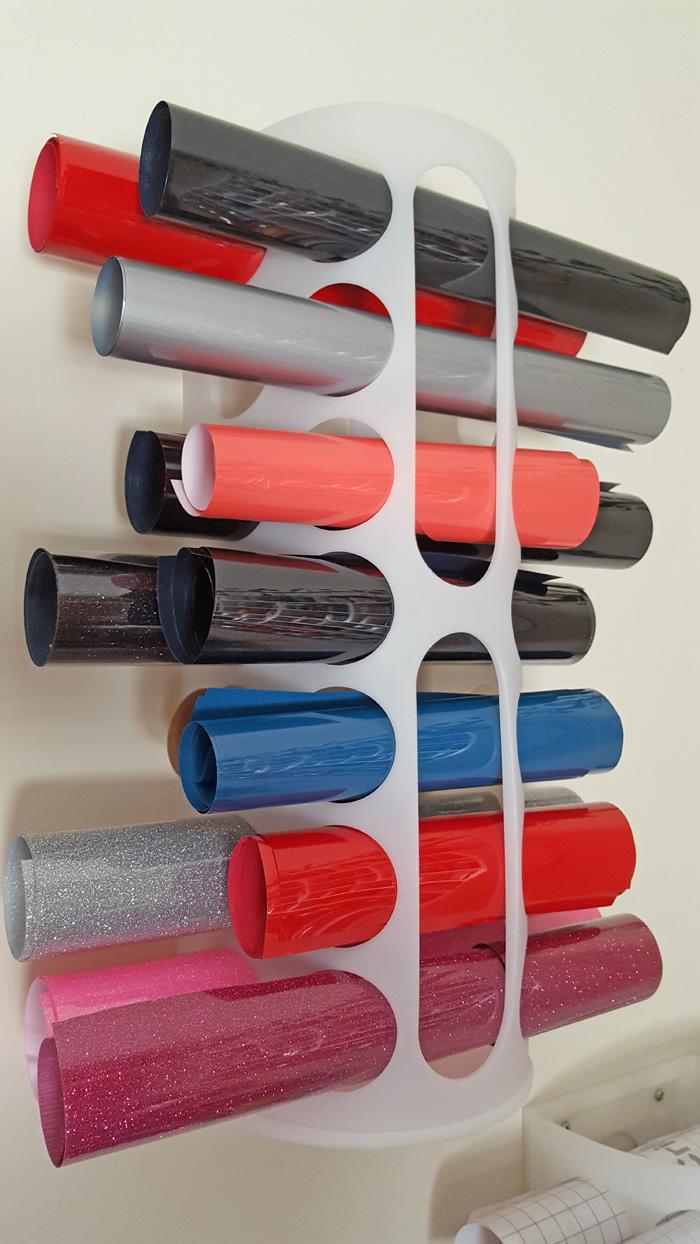 Ikea Plastic Bag Holders for storing vinyl AD