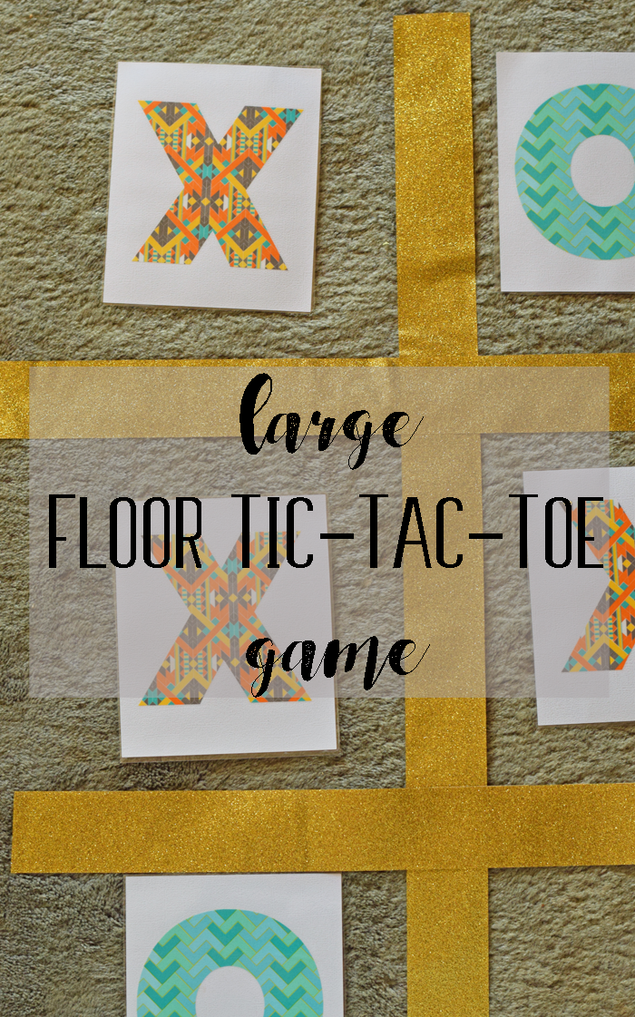 DIY Large Tic-Tac-Toe Floor Game AD