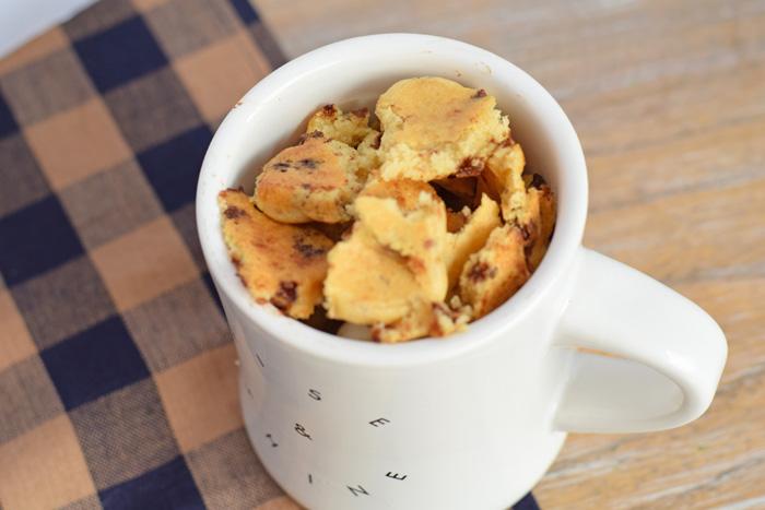 Banana Chocolate Breakfast Mug recipe AD