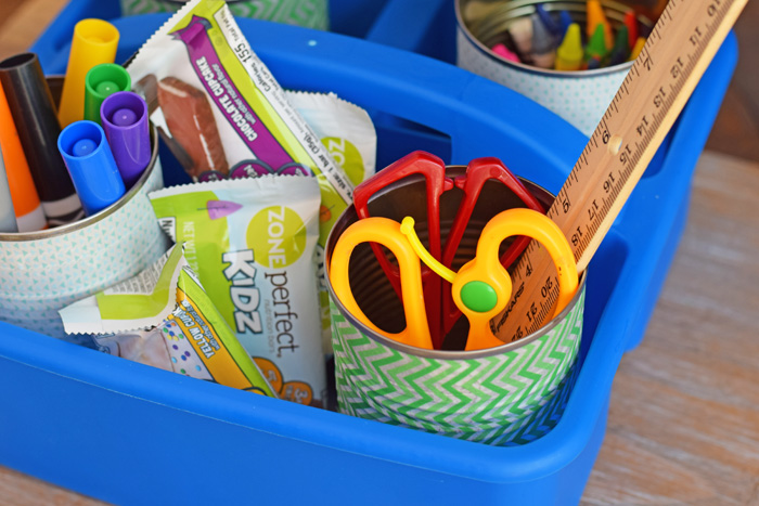 DIY Homework Caddy AD