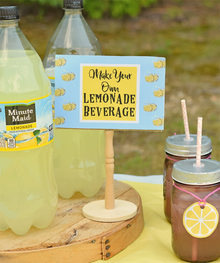 Mini Lemonade Stand for Outdoor Entertaining AD