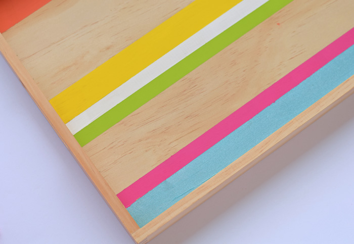 This Painted Serving Tray makes a lovely gift or home decor piece. AD