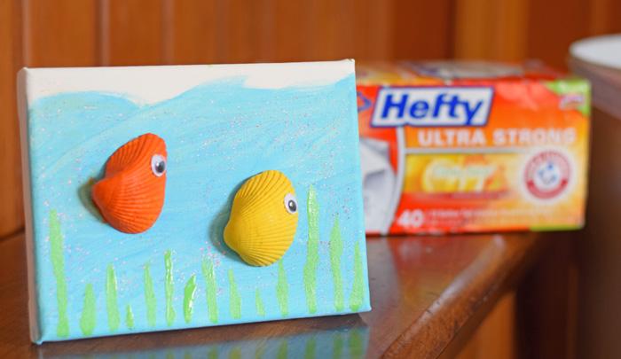 Sea Shell Sea Creature Canvas Craft AD