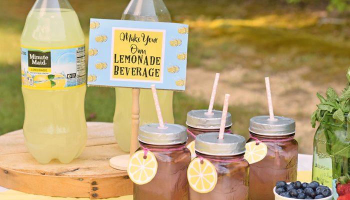 Mini Lemonade Stand for Outdoor Entertaining