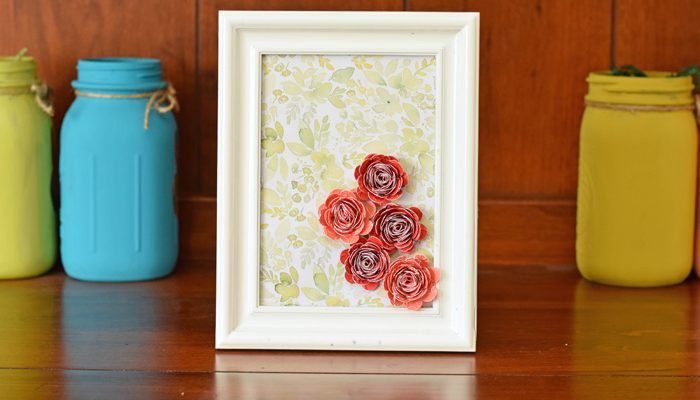 Rolled Flower Decor with Cricut