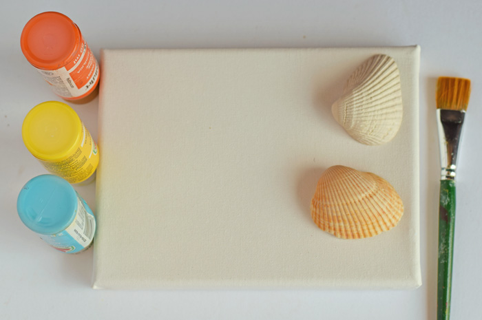 Sea Shell Sea Creature Canvas Craft AD