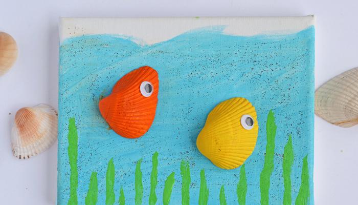 Sea Shell Sea Creature Canvas Craft