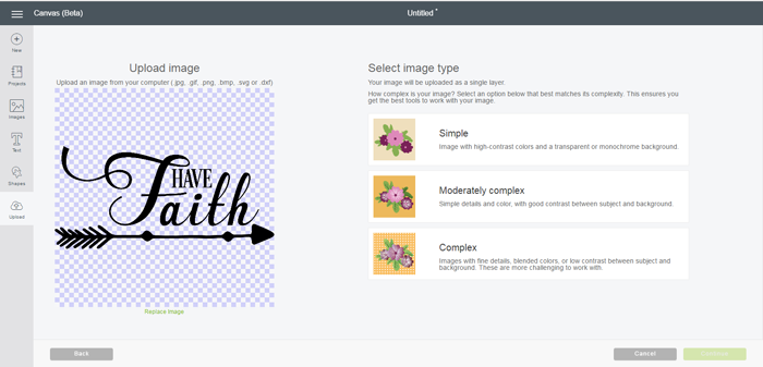 How to Upload Images in Cricut Design Space 3
