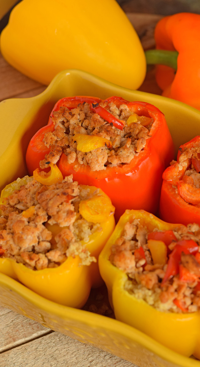 Ground Turkey Stuffed Peppers AD