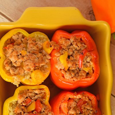 Ground Turkey Stuffed Peppers AD