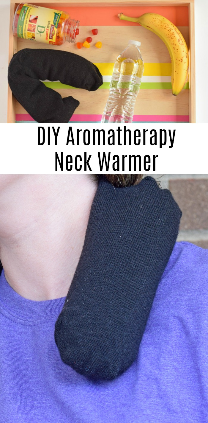DIY Aromatherapy Sock Neck Pillow  AD