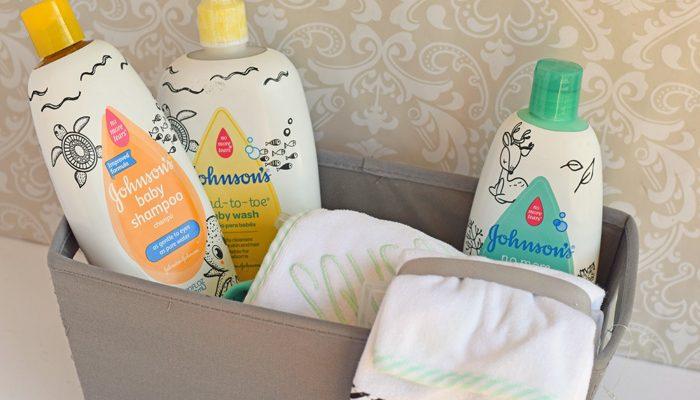 Bath Time Baby Gift Basket AD