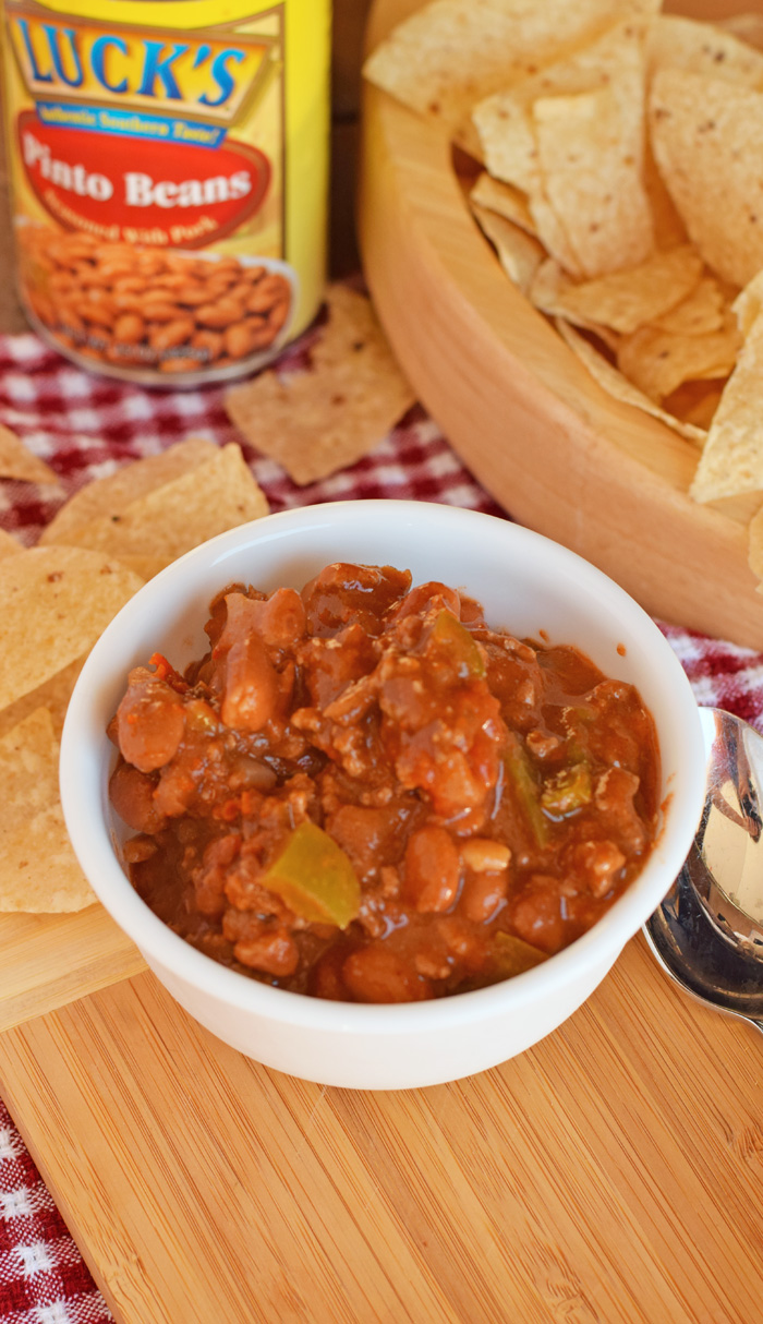Slow Cooker Pinto Bean Chili AD