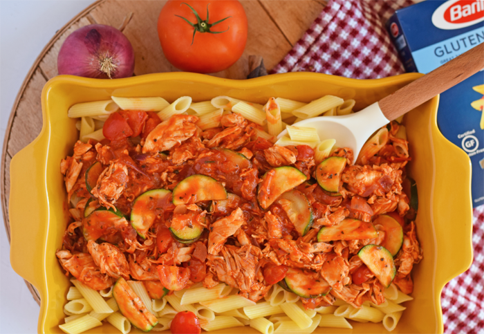 Kid-Friendly Mediterranean Style Chicken and Pasta AD