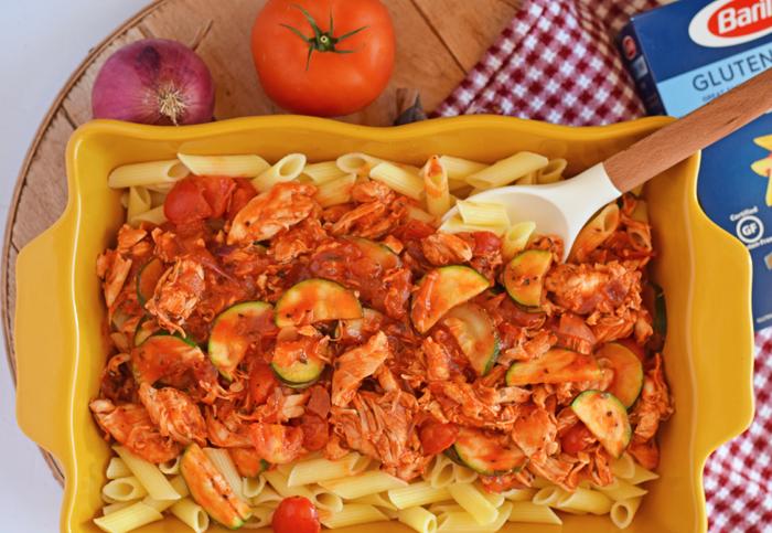 Kid-Friendly Mediterranean Style Chicken and Pasta AD