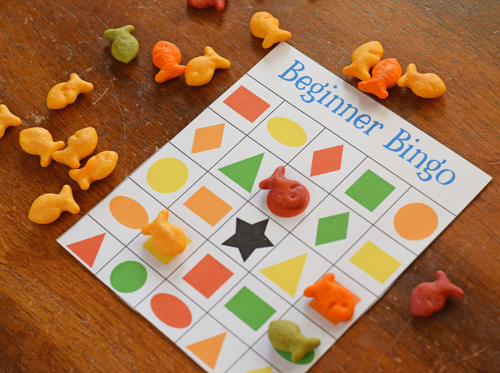 Beginner Bingo game for kids (with free printable) AD
