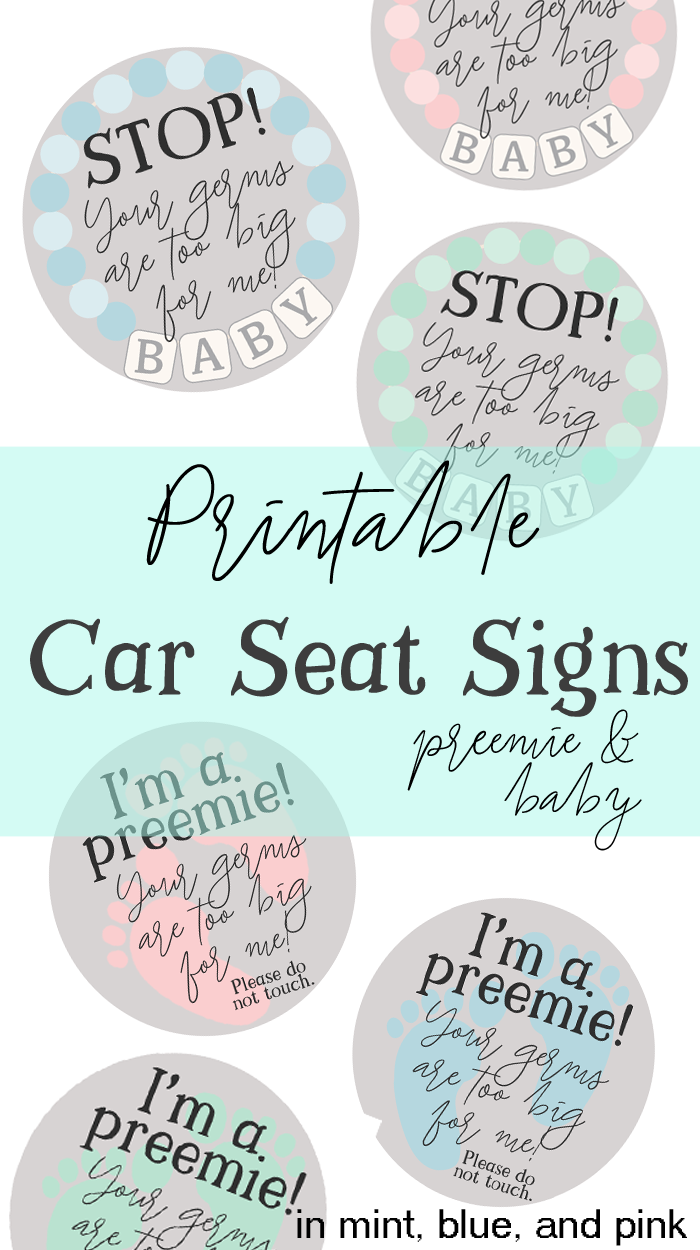 Preemie Car Seat Signs AD