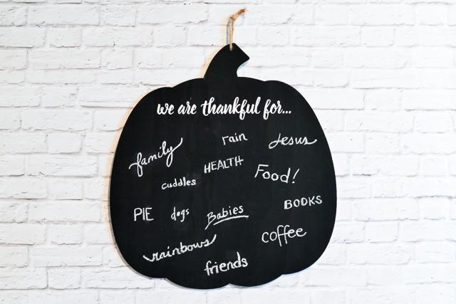 Gratitude Pumpkin made with Cricut