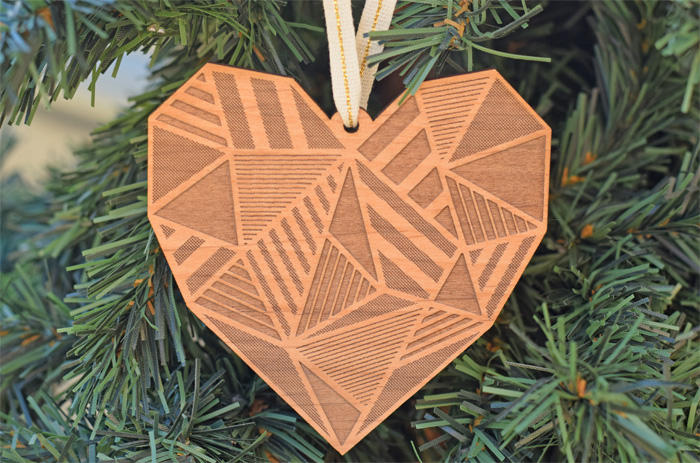 Patchwork Heart Laser Cut Ornaments from Cardtorial AD
