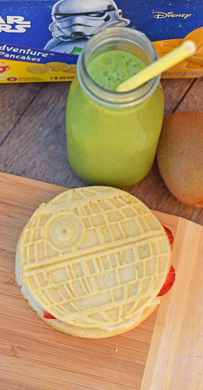 Recipes for Galactic Fruit and Pancake Sandwiches with a Green Galaxy Smoothie AD