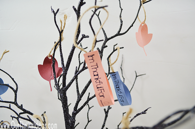 Thankful Tree Craft for Kids made with Cricut