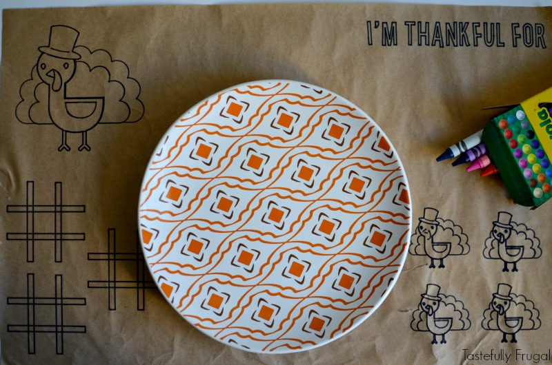 Thanksgiving Placemats for Kids made with Cricut