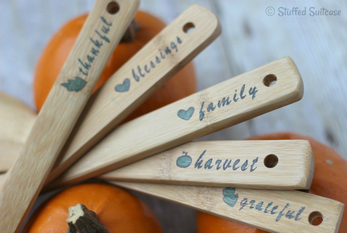 Thanksgiving Serving Utensils made with Cricut