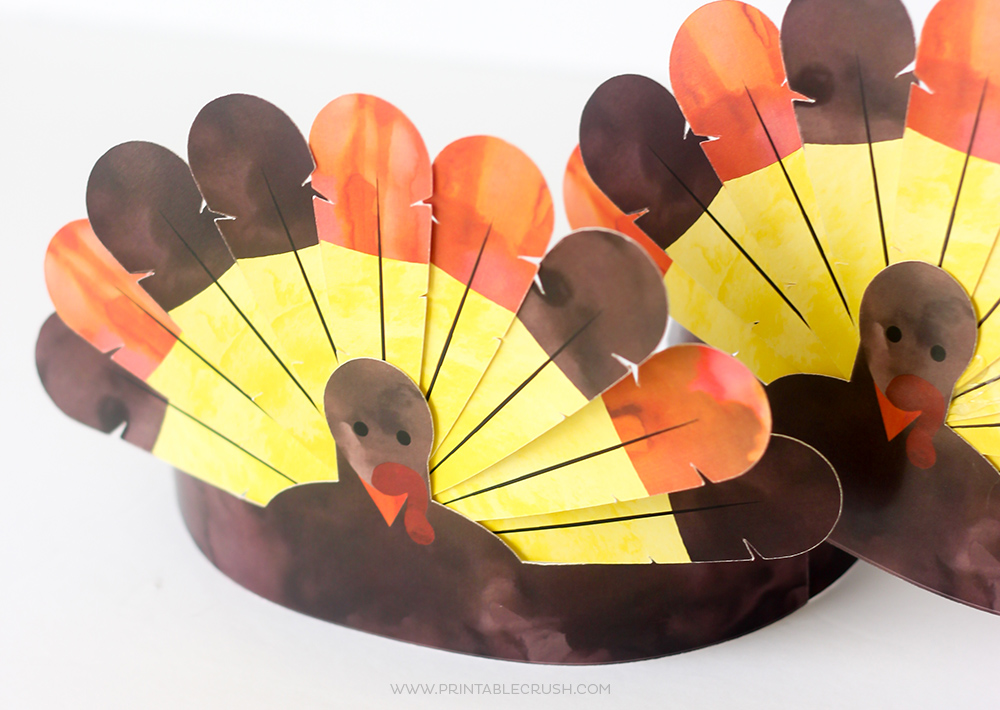 Thanksgiving Turkey Crowns craft for kids