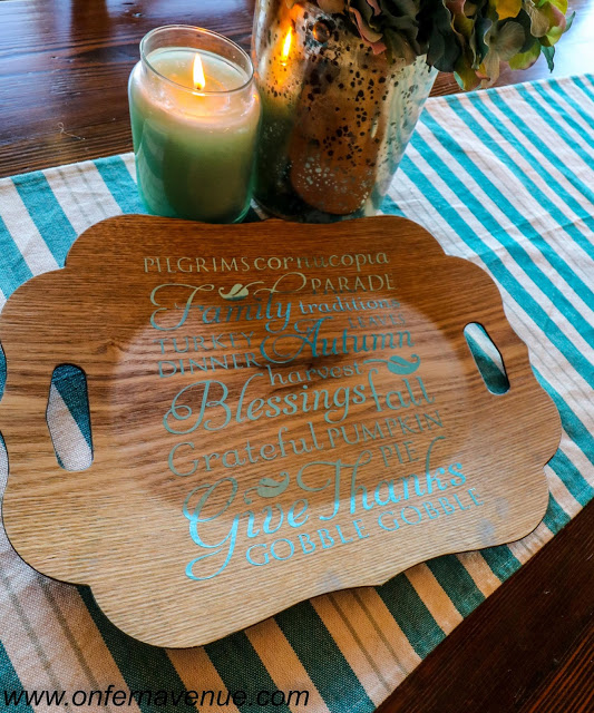 Thanksgiving Tray made with Cricut