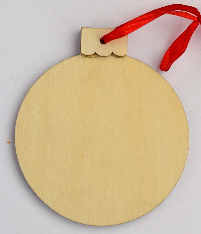 Split Monogram Christmas Ornament made with the Cricut
