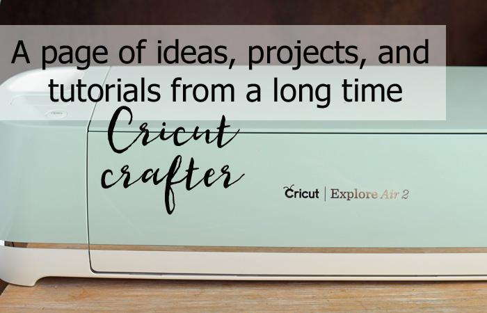 Cricut Tutorial page