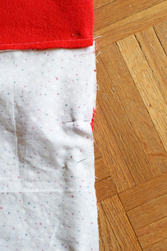 Fabric Lined Felt Stocking Tutorial AD