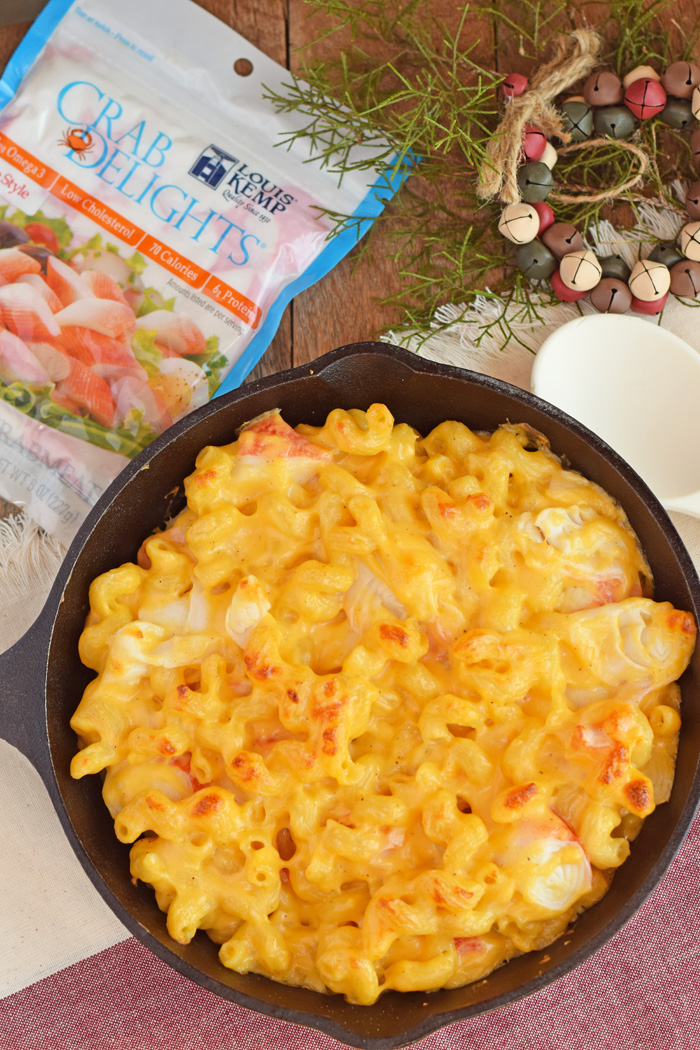 Seafood Baked Macaroni and Cheese recipe AD