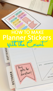 How to Make Planner Stickers with the Cricut AD