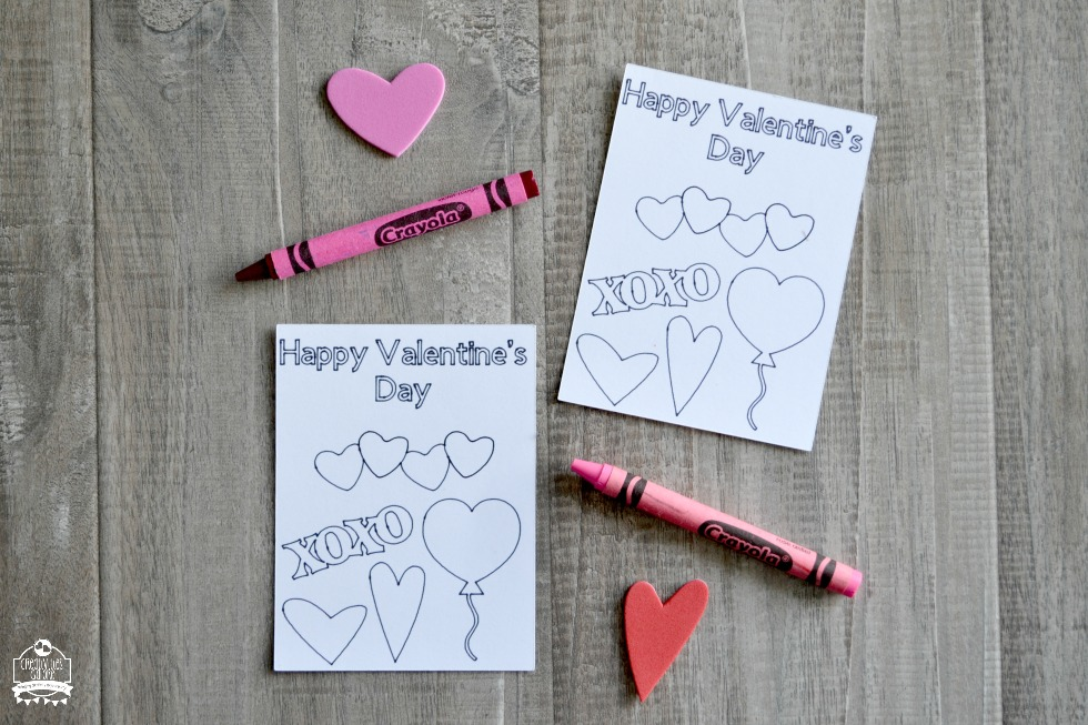 Colorable Classroom Valentines