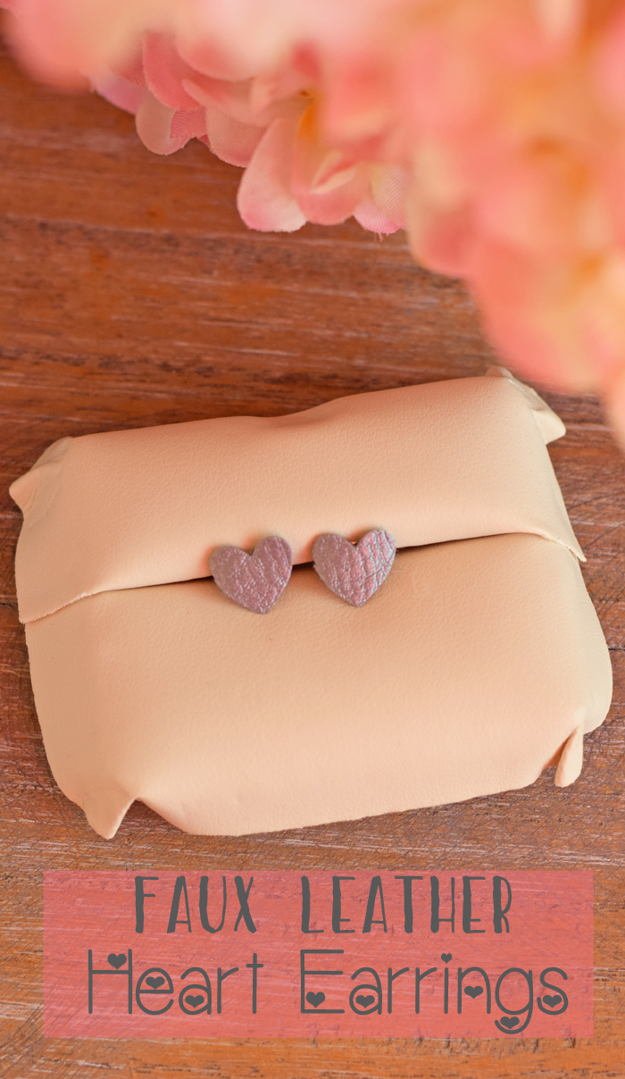 These DIY Faux Leather Heart Earrings made with the Cricut machine are perfect for Valentine's date night or gifting