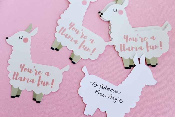 Llama Classroom Valentines