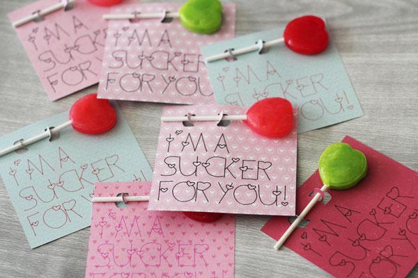 Sucker Classroom Valentines