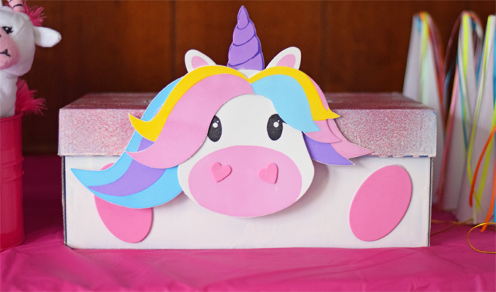 Unicorn Valentine's Day Card Box  AD