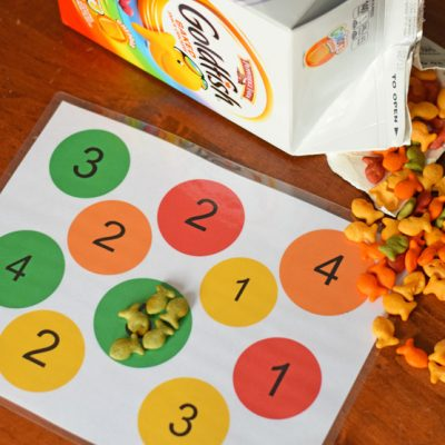 Color and Number Matching Game (with free printable) AD
