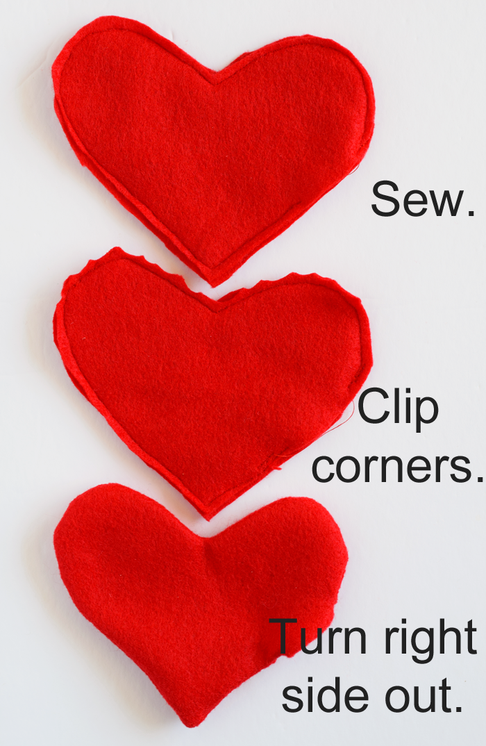 Felt Heart Hand Warmers with Free Teacher Printable