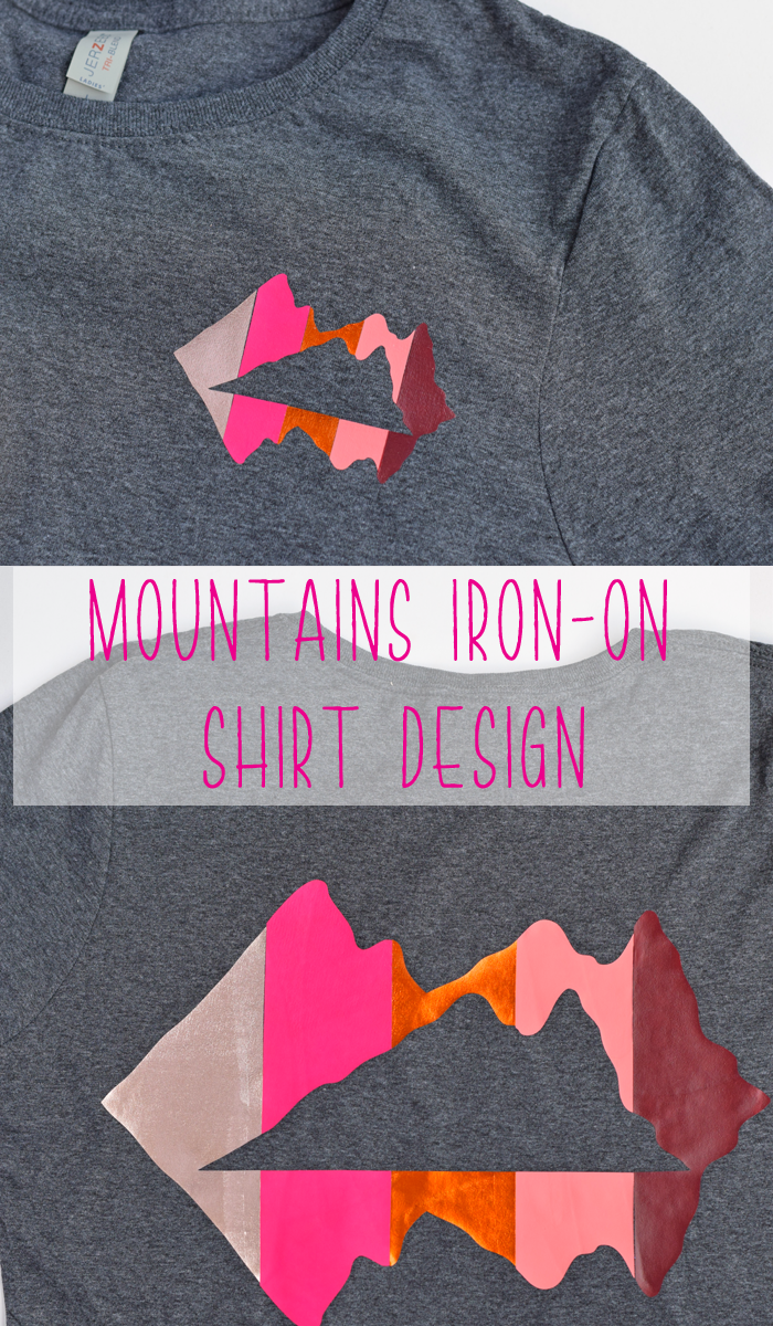 Mountains HTV (Iron-On) Shirt Design AD