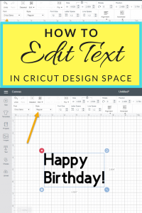 How to Edit Text in Cricut Design Space