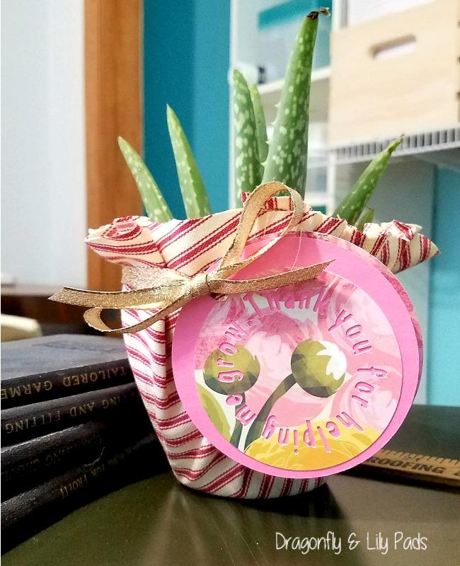 Teacher Appreciation Gift Tag Idea made with Cricut